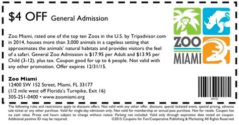 miami zoo coupons  promo codes november