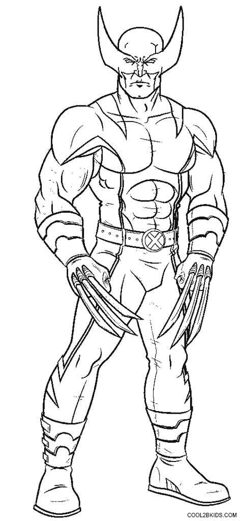 printable wolverine coloring pages  kids coolbkids superhero coloring pages marvel