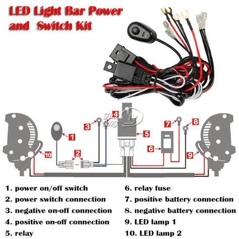 12v 40a led hid fog spot work driving light wiring loom harness kit switch relay ebay