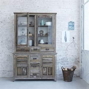 Vaisselier En Pin : vaisselier en pin recycl vintage teckandco ~ Teatrodelosmanantiales.com Idées de Décoration