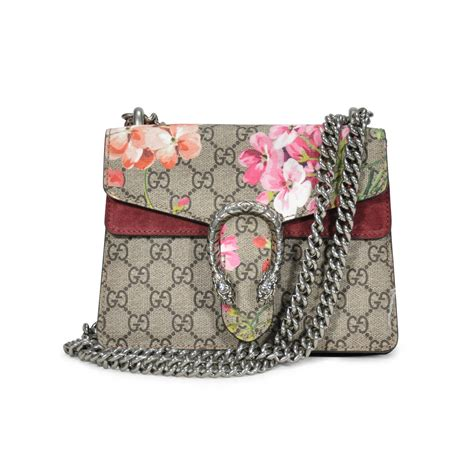 hand gucci dionysus blooms mini shoulder bag   collection