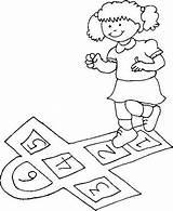 Colorear Juegos Dibujos Template Raya Tradicionales Juego Coloring Hop Venezuela Rayuela Pintar Sheet Hopscotch Imagui Dibujar Sin Imprimir Dibujo Amarelinha sketch template