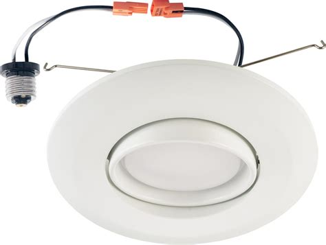 can light trim led 6 inch recessed led gimbal downlight eyeball retrofit kit