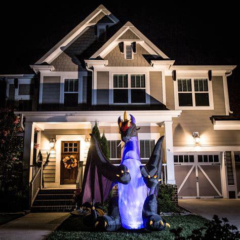 shop holiday living  ft   ft animatronic lighted dragon