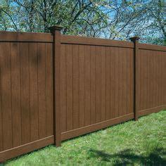 simtek ashland  ft    ft  walnut brown composite fence panel fence panel