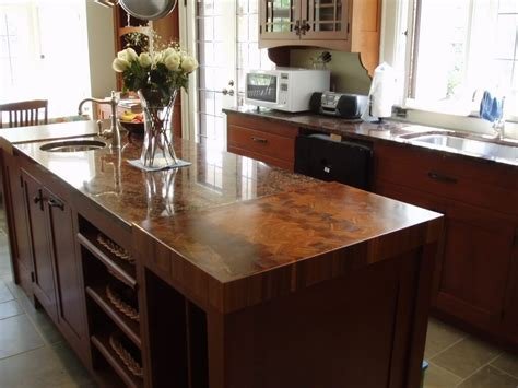 kitchen island tops end grain wood countertops custom 2024