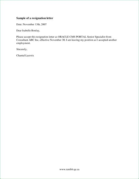 simple resignation letter sample  letterbuiscom