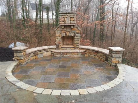 paver patio seating wall outdoor