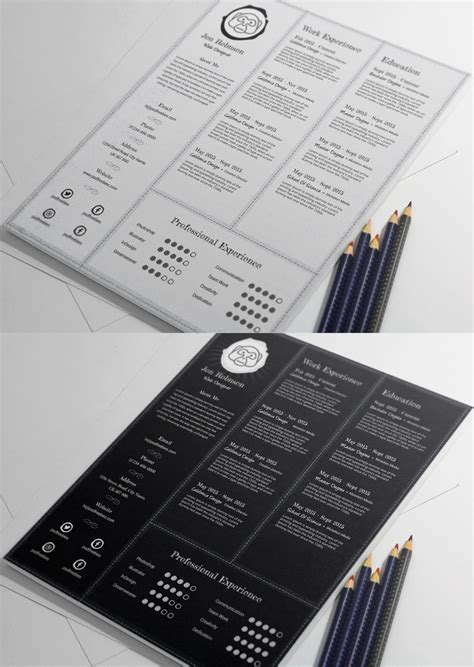 Creative Professional Resume Free by Creative And Professional Resume Free Psd Template