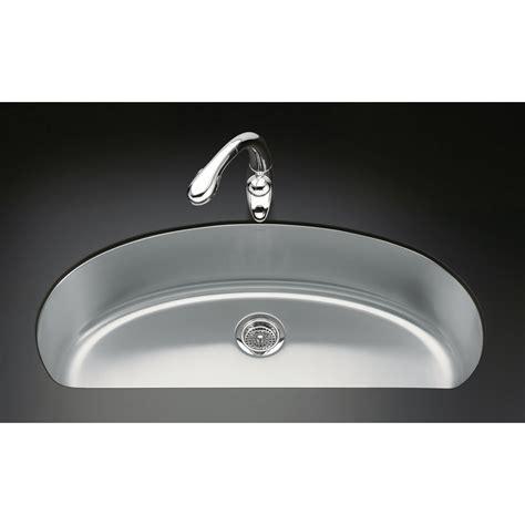 kohler kitchen sinks stainless steel undermount shop kohler undertone 18 5 in x 37 5 in single basin 9647