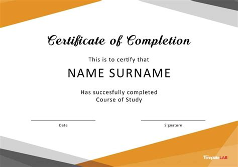 free certifications 40 fantastic certificate of completion templates word