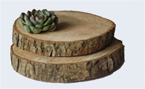 wooden tree slice wedding centrepiece  cake stand