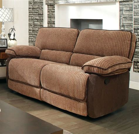 fabric reclining sofas and loveseats hazlet reclining sofa cm6581 in brown fabric w options