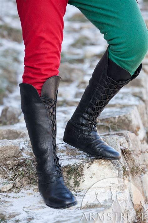 medieval fantasy high boots forest  sca