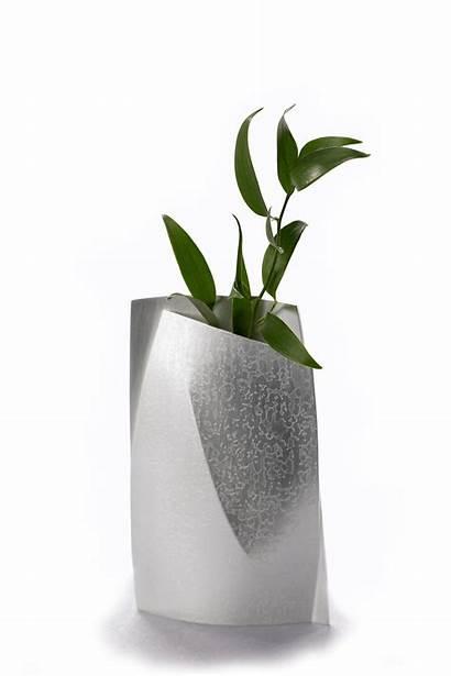 Vase Bud Etched Vases Silver