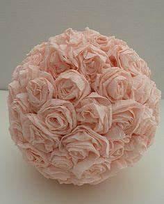 Boule En Papier Crepon : tuto bouquet boule fleur papier accessoires pinterest fleurs en papier rose en papier et ~ Dode.kayakingforconservation.com Idées de Décoration