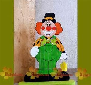Holzarbeiten Mit Kindern Vorlagen : bunter clown als stehende holzfigur karneval pinterest ~ Watch28wear.com Haus und Dekorationen