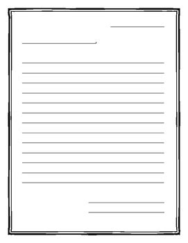 letter writing template  border  ms nolan
