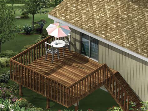 highview raised patio decks plan   house plans