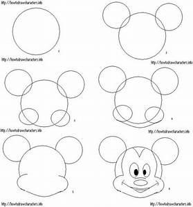 how to draw mickey mouse | ºOº ♥♥Disney Crafts♥♥ ºOº ...