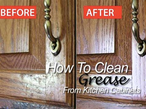 how to remove heavy grease from kitchen cabinets
