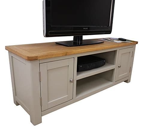 fully assembled dvd cabinet aspen painted oak sage grey large tv plasma dvd video