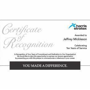 long service certificate template sample - long service certificate of recognition plaque 576 4