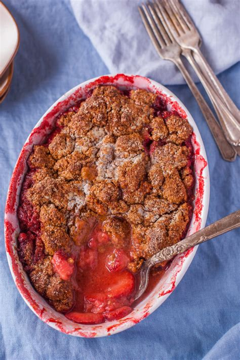 healthy easy strawberry cobbler recipe eating richly