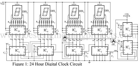 Hour Digital Clock Timer Circuit Engineering Projects