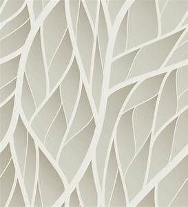Print a Wall Paper Leaves in Grey PVC Free Wallpaper by