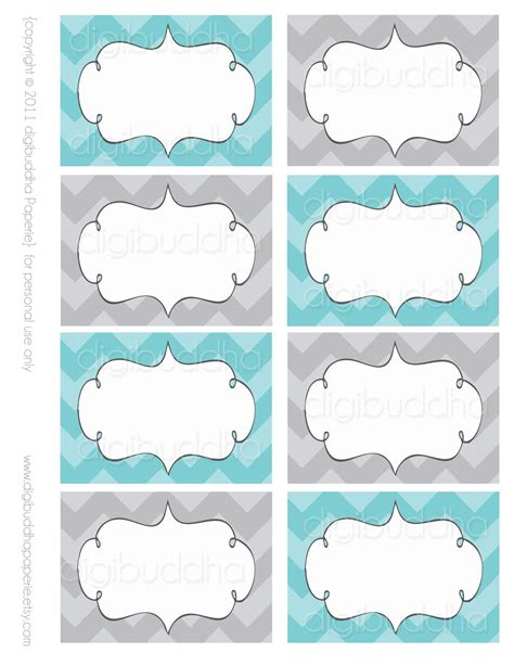ava modern chevron candy buffet food mailing labels cards