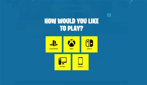 fortnite cross platform guide playing  platforms