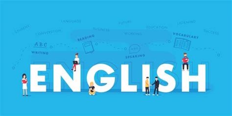 learning english illustrations royalty  vector