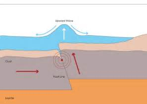 tsunamis earthquakes earthquake diagram and models diagram site