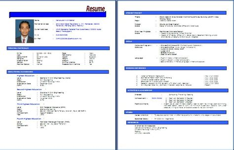 Format Resume Kerajaan by Contoh Format Resume Lengkap Kerja Kosong Kerajaan Newhairstylesformen2014