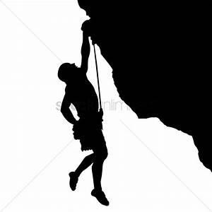 Man climbing a mountain Vector Image - 1822431 ...