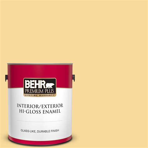 behr premium plus 1 gal 360c 3 honey tone hi gloss