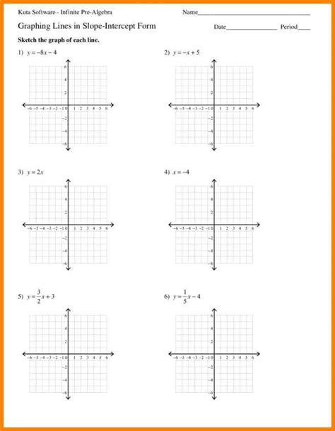 worksheets graphing linear equations 5 graph linear equations worksheet project fans