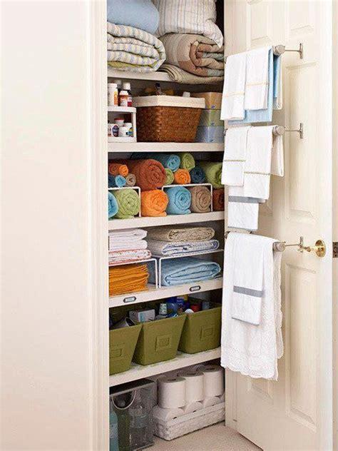 beautifully organized linen closets