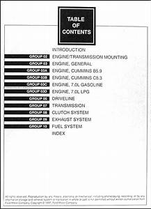 1998 Ford F700 F800 Ft900 B700 Truck Repair Shop Manual Set