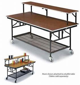 Midwest, Folding, Products, Riser, Shelf-, Laminate, Top, With, Vinyl, Edge, 96, U0026quot, L