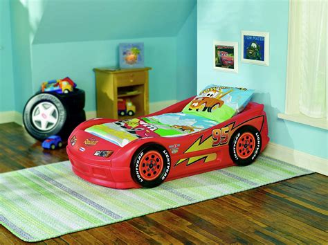 Tikes Lightning Mcqueen Toddler Bed by Car Bed For Boys