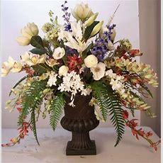 Silk Floral Arrangements, Artificial Tropical Flowering Plants