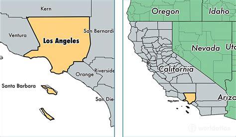 los angeles county california map  los angeles county