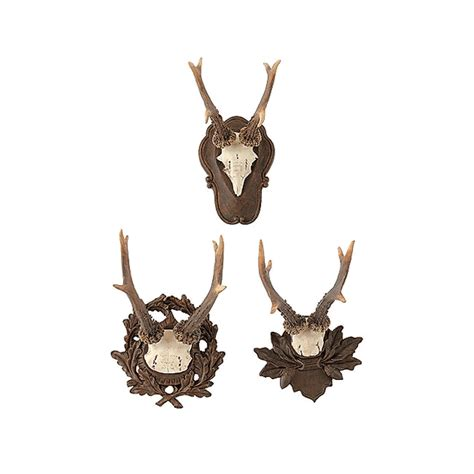 roe deer antler plaque set set