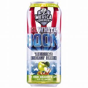 Merica Energy Red White  U0026 Boom Rtd Energy Drink Review
