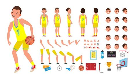Svg animations level 2 the definition of '<animate>' in that. Premium Basketball Player Male Vector. Animated Character ...