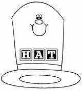 Hat Coloring Cartoon Happy Colouring Sheets Colorings sketch template