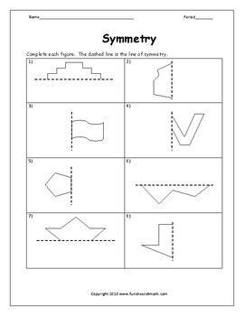 symmetry worksheet  funsheetsmath teachers