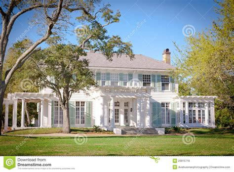 plantation home designs southern style mansion stock photo image 23815718